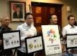 Peluncuran logo Asian Games 2018 di Komplek Istana Negara, Jakarta, Kamis (28/7). (Republika/Wihdan)
