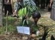 Acara penanaman pohon dalam kegiatan workhop penulisan karya ilmiah bernuansa 'go green' yang diberikan LIPI.