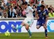 Aksi Andre-Pierre Gignac menjebol gawang Bastia yang dikawal Mickael Landreau.