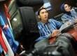 Anggota FPD Edhie Baskoro Yudhoyono didampingi Ketua Fraksi Partai demokrat (FPD) Nurhayati Assegaf (kanan), saat menyatakan mundur sebagai anggota DPR di ruang fraksi gedung DPR, Jakarta, Kamis (14/2). (Republika/ Tahta Aidilla)