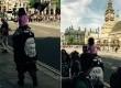Bocah melambaikan bendera ISIS di luar gedung Parlemen Inggris