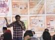 Calon Wakil Gubernur DKI Jakarta Djarot Saiful Hidayat menyampaikan program kerja saat diskusi bersama warga di Cilandak Barat, Jakarta, Selasa (7/2).