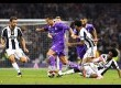 Cristianon Ronaldo menembus pertahanan Juventus pada Final Liga Champions Eropa di Cardiff, Ahad (4/6) dini hari