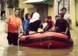 Evakuasi warga korban banjir di Cililitan, Jakarta Timur