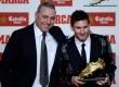 Hristo Stoichkov (kiri) bersama Lionel Messi
