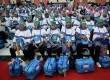 Jamaah calon haji kloter satu asal DKI Jakarta menunggu pendataan oleh Panitia Penyelenggara Ibadah Haji (PPIH) saat tiba di gedung serba guna Asrama Haji Pondok Gede, Jakarta, Senin (9/9).       (Republika/Agung Supriyanto)