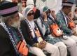 Jamaah haji kloter JKG 14 duduk beristirahat saat tiba tiba di Paviliun Haji Bandara Amir Mohammad Bin Abdul Azis, Madinah, Arab Saudi, Jumat (4/8).