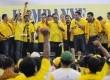 Kampanye terbuka Partai Golkar di Gedung Olah Raga (GOR) Ciracas, Jakarta, Selasa (18/3).  (Republika/Aditya Pradana Putra)