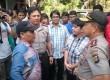Kapolda Metro Jaya Irjen Tito Karnavian mengamankan demo di kantor Detik.com, Jumat (28/8).