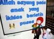 Kegiatan pesantren Ramadhan untuk anak-anak di Masjid Istiqlal, Jakarta, Selasa (24/7). (Aditya Pradana Putra/Republika)