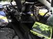 Kondisi kendaraan Lancer IVO yang dikendarai putra bungsu Ahmad Dhani, Abdul Qodir Jaelani alias Dul yang ringsek akibat kecelakaan di Tol Jagorawi, Ahad (8/9). (Republika/Yasin Habibi)