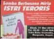 Lomba berbusana mirip istri teroris