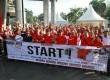 Acara fun walk atau jalan santai dalam rangka kegiatan Mahaka Week di Jakarta, Ahad (4/5).  (foto: Adjie)