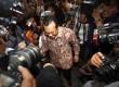 Menteri Pertanian Suswono memenuhi panggilan pemeriksaan di Gedung Komisi Pemberantasan Korupsi (KPK), Jakarta, Senin (18/2).  (Republika/Adhi Wicaksono)