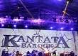 Musisi Sawung Jabo (kiri), Setiawan Djody dan Iwan Fals beraksi menghibur ribuan penggemarnya dalam konser Kantata Barock di Stadion Utama Gelora Bung Karno, Senayan Jakarta, Jumat (30/12). (Republika/Agung Supriyanto)