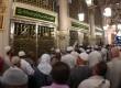 Para peziarah memadati area makam Rasulullah SAW di Madinah