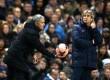 Pelatih Jose Mourinho dan Manuel Pellegrini.
