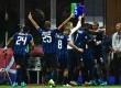 Pemain Inter Milan merayakan gol yang dibuat Stevan Jovetic.