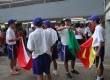 Pembawa bendera negara Indonesia vs Kamerun melakukan persiapan, jelang laga persahabatan di Stadion Utama Gelora Bung Karno, Jakarta, Sabtu (17/11). (ROL/Fafa)