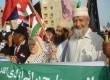 Peserta GMJ dari berbagai negara, melakukan Longmarch di sepanjang Sea View, Karachi Pakistan Ahad (11/3). (Republika/Nashih)