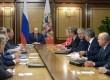 Presiden Rusia Vladimir Putin memimpin pertemuan Dewan Keamanan di resor Laut Hitam Sochi, Rusia, Sabtu, 10 Oktober, 2015