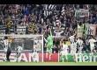 Selebrasi pemain  Juventus setelah mengalahkan AS Monaco pada pertandingan leg kedua Liga Champions Eropa di Stadion Juventus, Rabu (10/9) dinihari.
