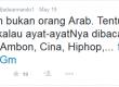 Status Ade Armando yang mengundang kontroversi.