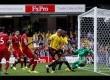 Stefano Okaka mencetak gol ke gawang Liverpool pada pertandingan Liga Inggris antara Watford dan Liverpool di Watford, Inggirs, Sabtu (12/8)