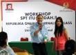 Suasana kegiatan Republika Online Journalism Training di Universitas Nasional Jakarta, Rabu (27/2).