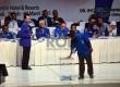 Suasana pemungutan suara pemilihan calon Ketua Umum pada Kongres IV PAN di Nusa Dua, Bali, Ahad (1/3).   (Republika/Rakhmawaty La'lang)