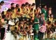 Tim sepakbola Malaysia berhasil meraih emas dalam ajang SEA Games 2011, GBK Jakarta, Senin, (21/11). (Republika Online/Fafa)