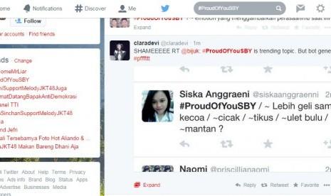 #ProudOfYouSBY jadi trending topic di twitter