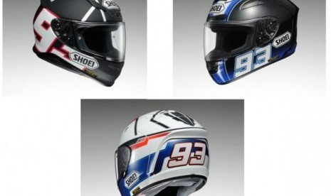 Shoei Rilis Tiga Helm Replika Marc Marquez | Herend PowerFX