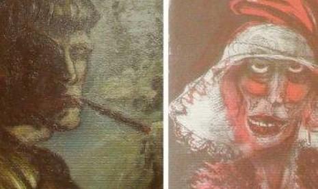 Salah satu lukisan hasil jarahan Nazi