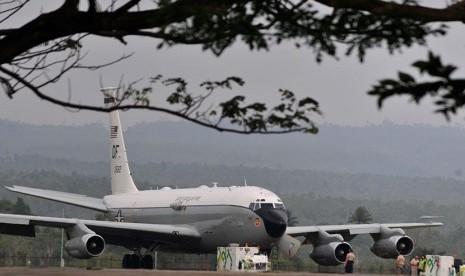 In Picture: Pesawat Militer AS Mendarat Darurat di Banda Aceh