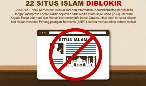 22 Situs Islam Diblokir