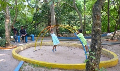 A Forest and playground in Srengseng, West Jakarta.