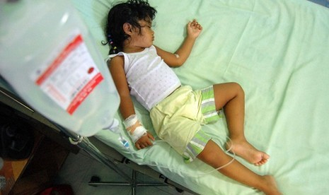 A toddler is hospitalized due to dengue fever in Aceh. (illustration)