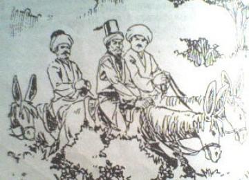 Abu Nawas dan Khalifah Harun Ar-Rasyid (ilustrasi).