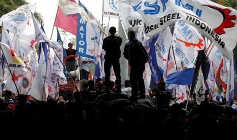 Aksi Buruh (ilustrasi)