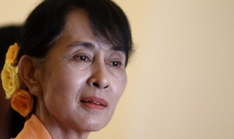Azyumardi Azra concerns over Myanmar pro-democracy leader Aung San Suu Kyi's silence over Rohingya case. (illustration)