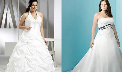 Baju pengantin untuk wanita gemuk (Ilustrasi)