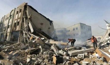 Israel Habiskan Seribu Ton TNT untuk Hancurkan Gaza