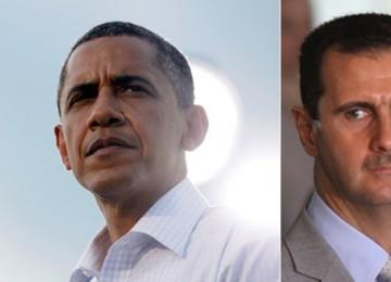 Barack Obama dan Bashar Al Assad