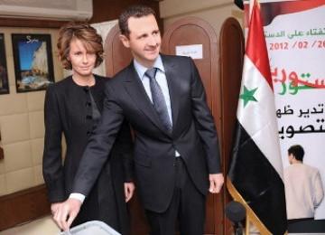 Bashar al Assad dan istrinya Asma Assad