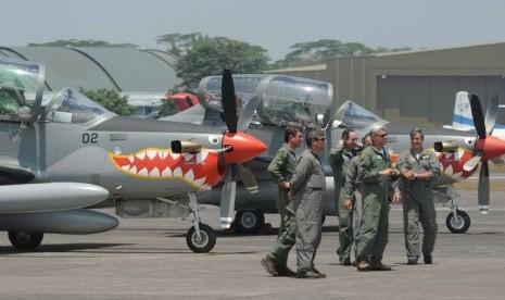 AU Resmi Miliki Empat Pesawat Super Tucano