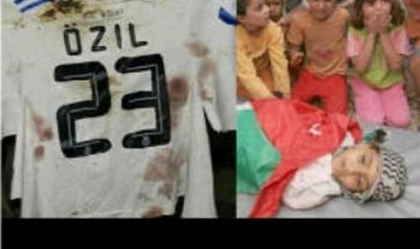 Mesut Oezil: Bebaskan Palestin!