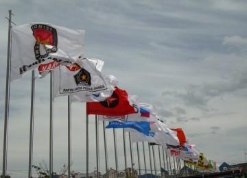Bendera partai politik. Ilustrasi