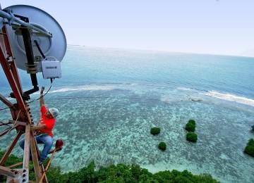 BTS Telkomsel di Maluku Utara