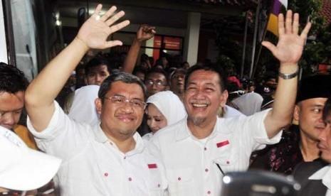 Cagub Jabar Ahmad Heryawan dan Deddy Mizwar